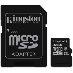 Kingston SDCS/32GB (microSDHC 32Gb class 10 UHS-I + SD adapter)